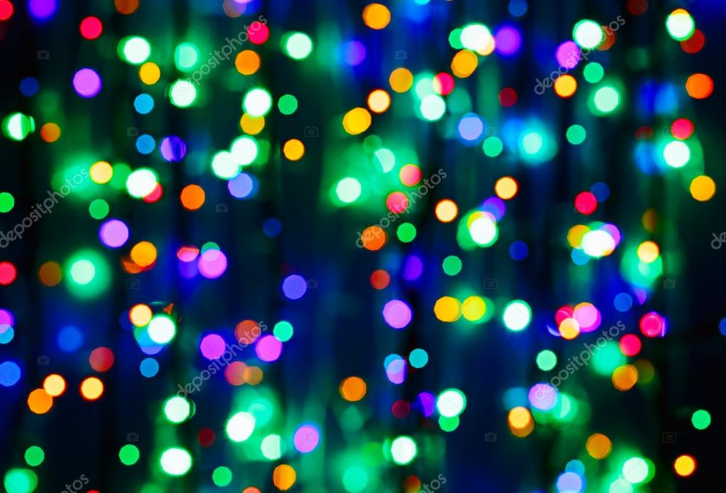 Multicolor bokeh circle background (illumination garland decorat