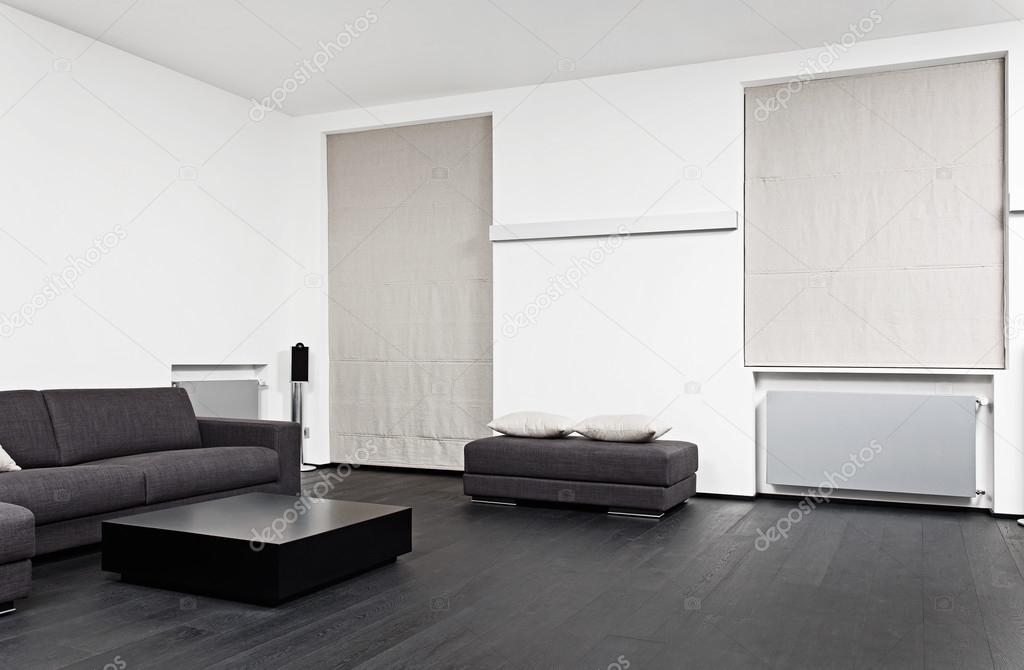 흑백 톤에 현대 거실 인테리어의 일부 — 스톡 사진 © MrHamster ...