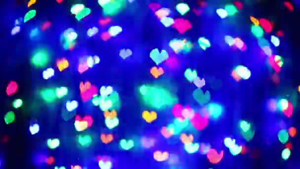 Abstract Valentines day heart shaped blinking bokeh background