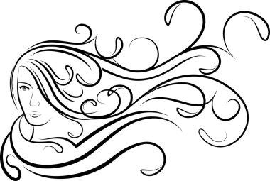 Girl with flutter hair.