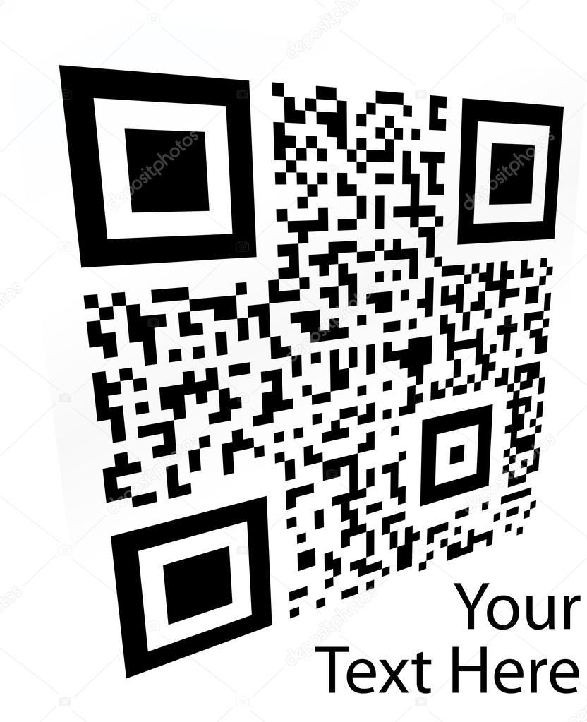 2D barcode  Vector illustration  — Stock Vector © antonshpak