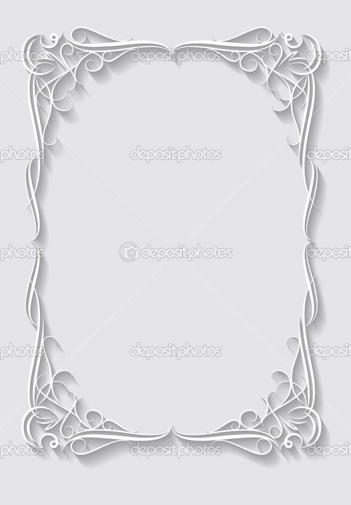 Papier Rahmen im Schnitt von Papier-Stil — Stockvektor © antonshpak ...