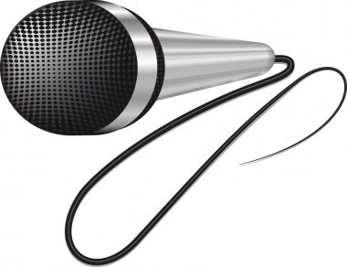 Microphone. Illustration on white background.