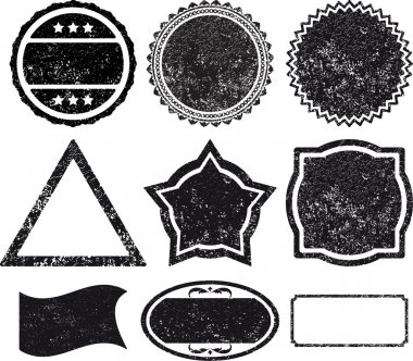 Set 9 rubber stamp template clip art vector