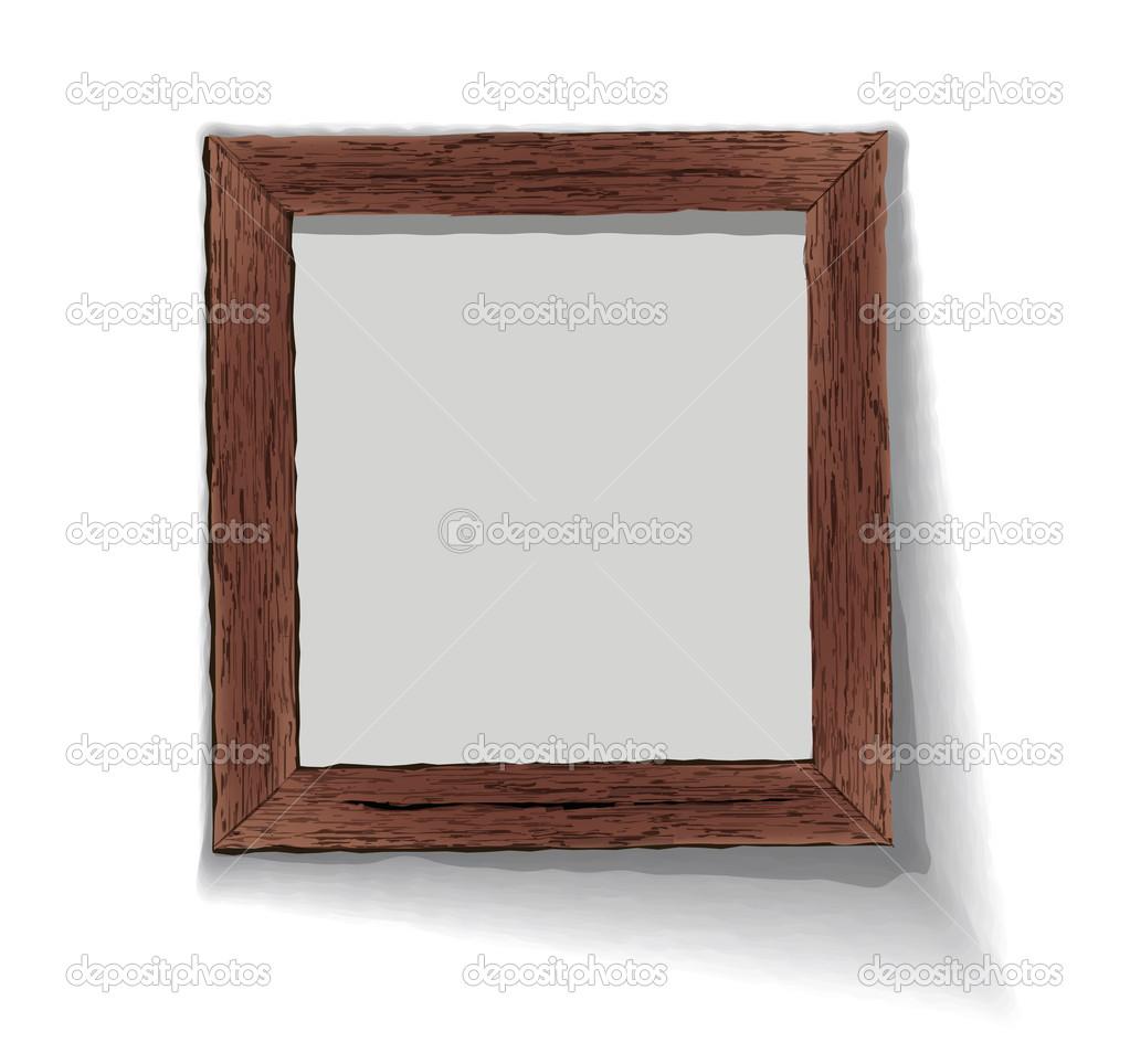 marco de madera vieja. ilustración vectorial — Archivo Imágenes ...