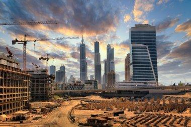 Grandiose construction in Dubai, the United Arab Emirates