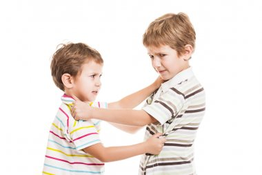 Children in conflict fight