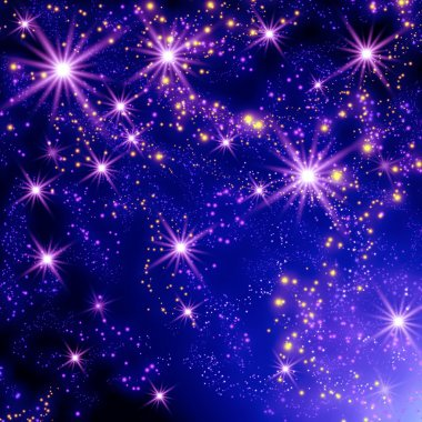 Stars in the space