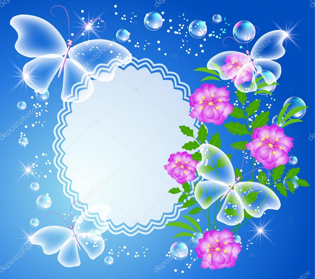 Photo: imikimi flower frames | Background with frame