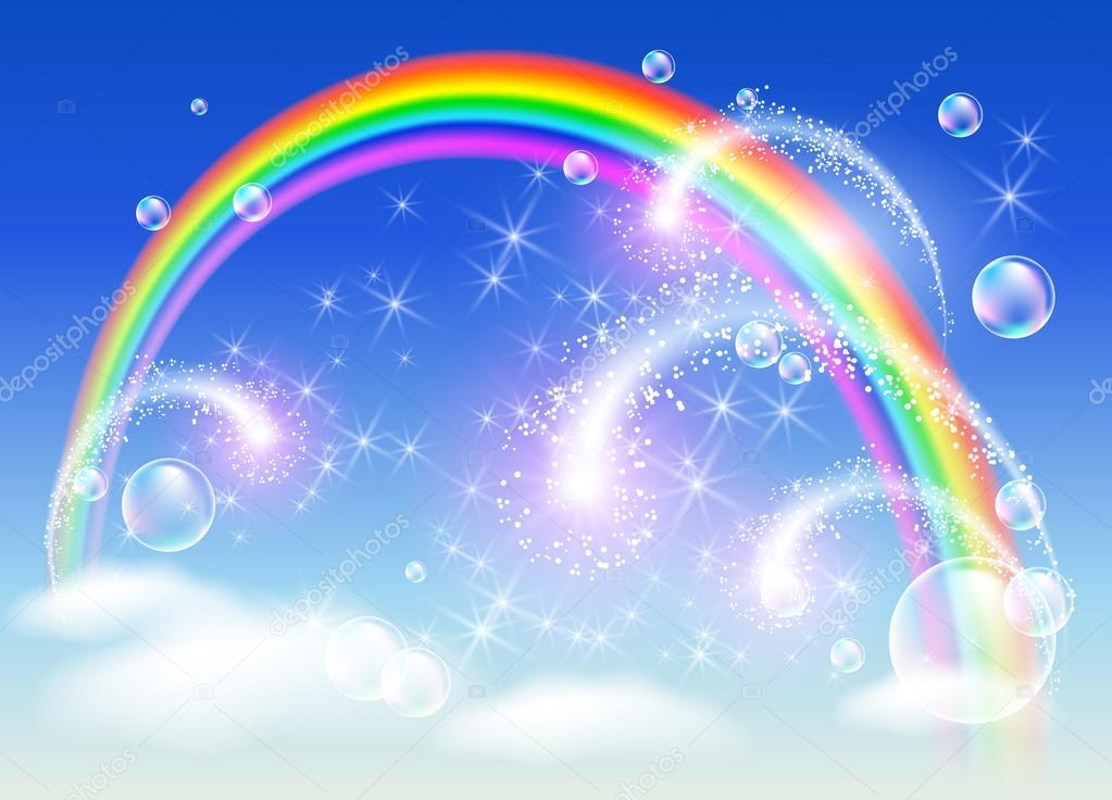Rainbow and salute