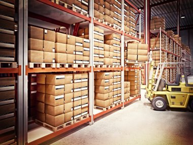 Warehouse background