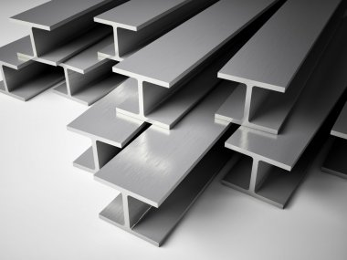 3d image of Structural steel stock vector