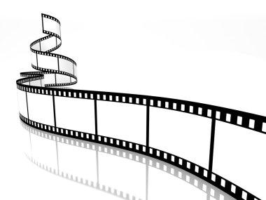 Empty film strip on white background stock vector