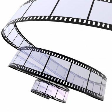 3d image of film strip on white stock vector