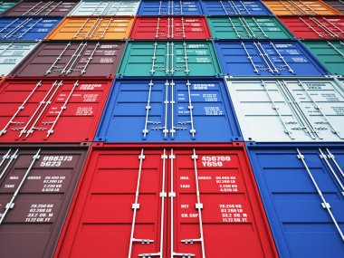 3d image of colorful container stock vector