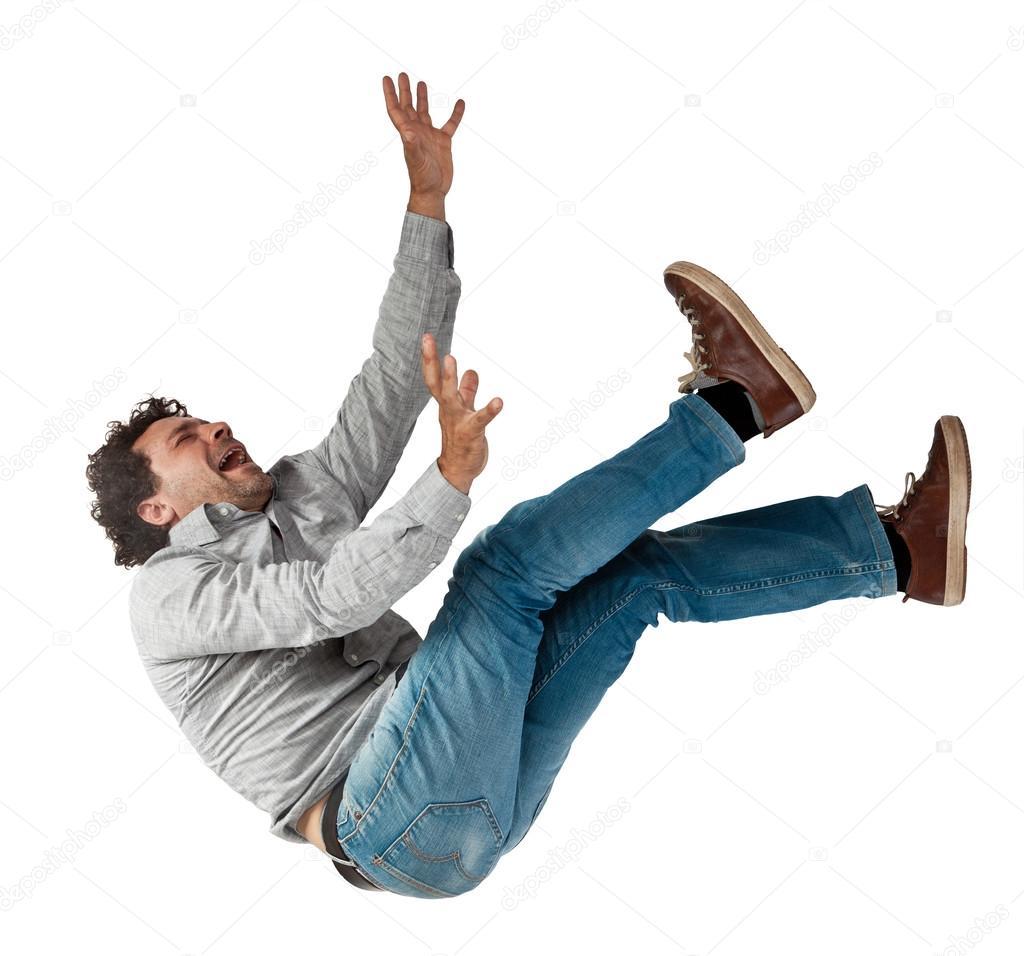 фото человек падающий