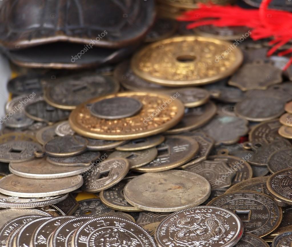 Alte Chinesische Münzen Stockfoto Shiyali 37222589