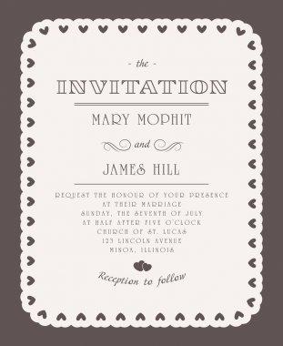 Vintage elegant invitation