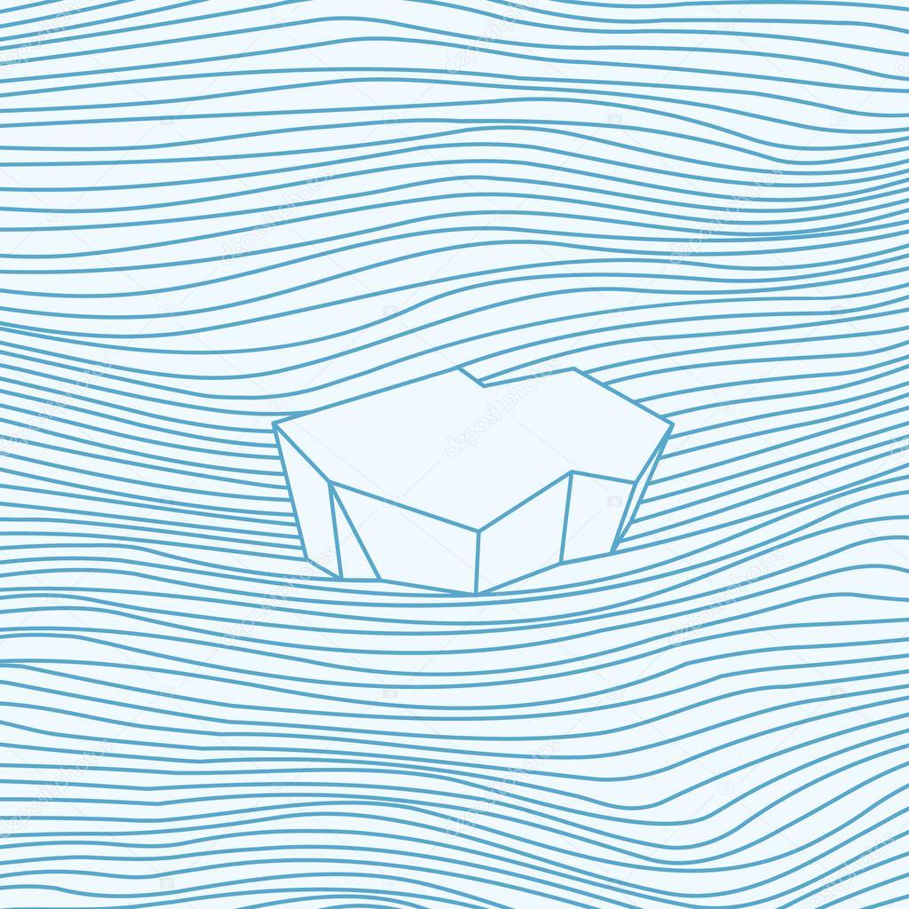 Iceberg. Vector Illustration