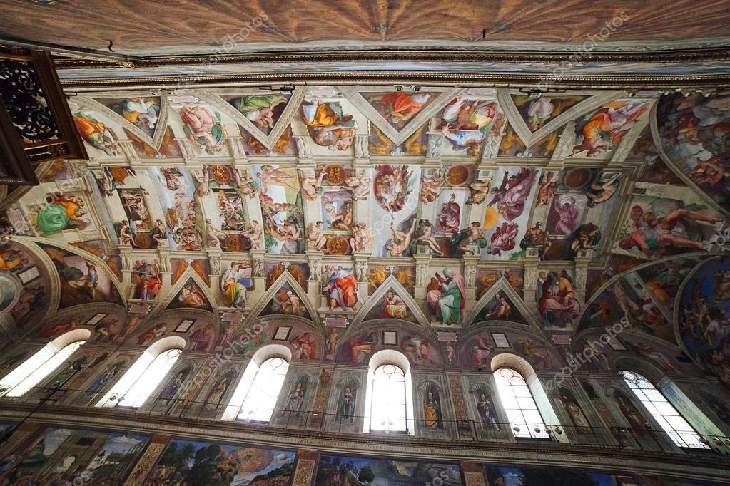 Plafond De La Chapelle Sixtine Vatican Photo Editoriale
