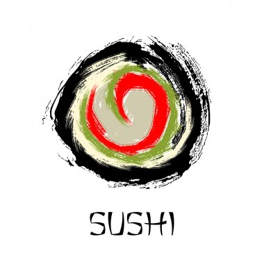 Sushi roll abstract