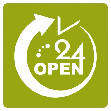 24 Hours Open icon