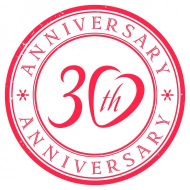 30 years anniversary stamp