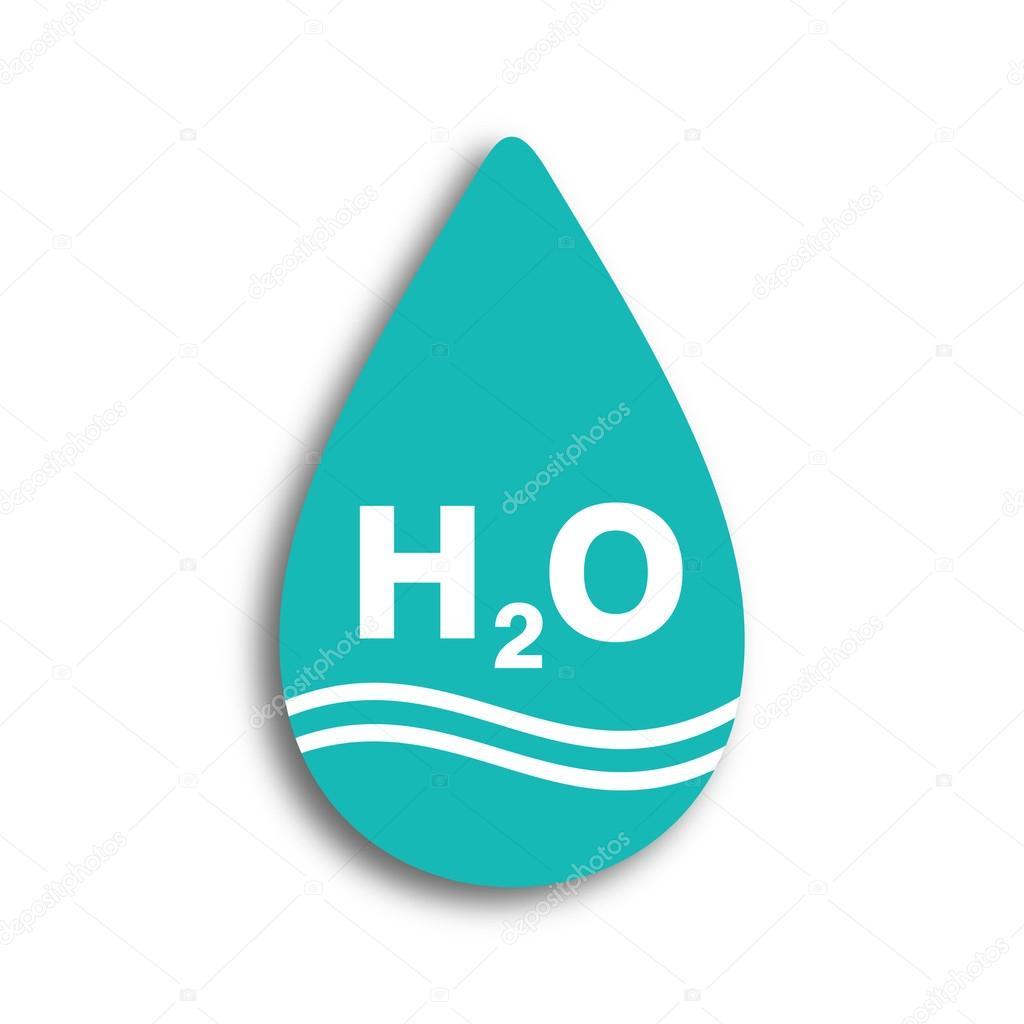 signo de agua. H2O. ideas de plantilla de diseño — Archivo Imágenes ...