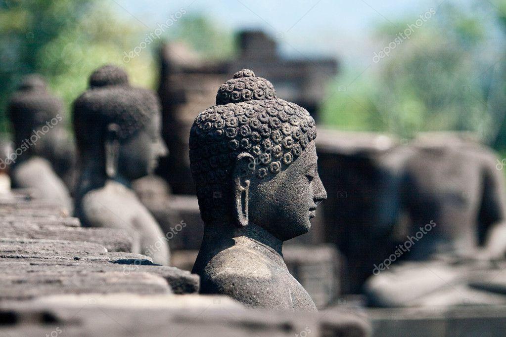 Buddha in Borobudur, Indonesia