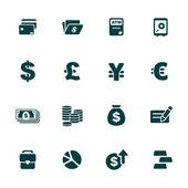 finance a peníze motiv ikony nastavit