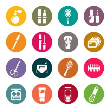 Beauty and makeup icons clip art vector