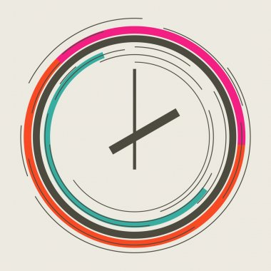 Clock abstract icon