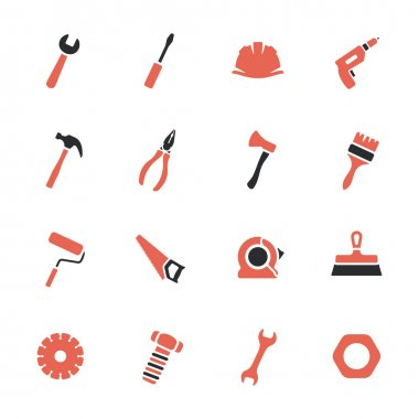 Tools icons set stock vector