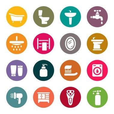Bathroom icon set clip art vector