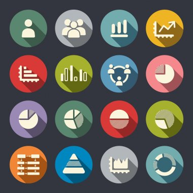 Infographics icons stock vector