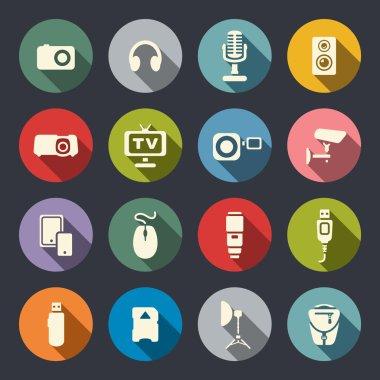 Electronics icon set
