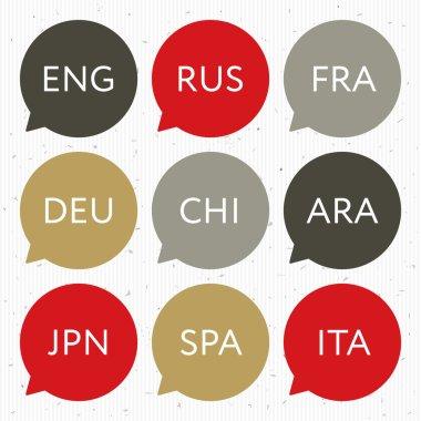 Languages icons