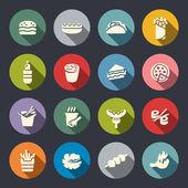 sada ikon pro rychlé občerstvení