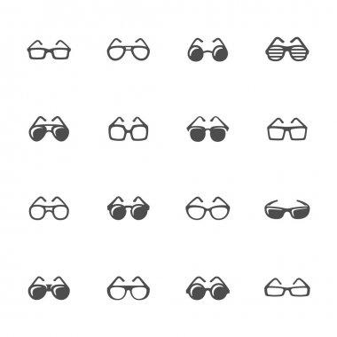 Glasses icon set
