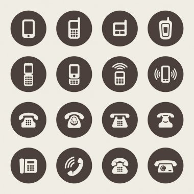 Phone icon set stock vector