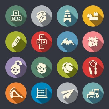 Preschool vector icons set