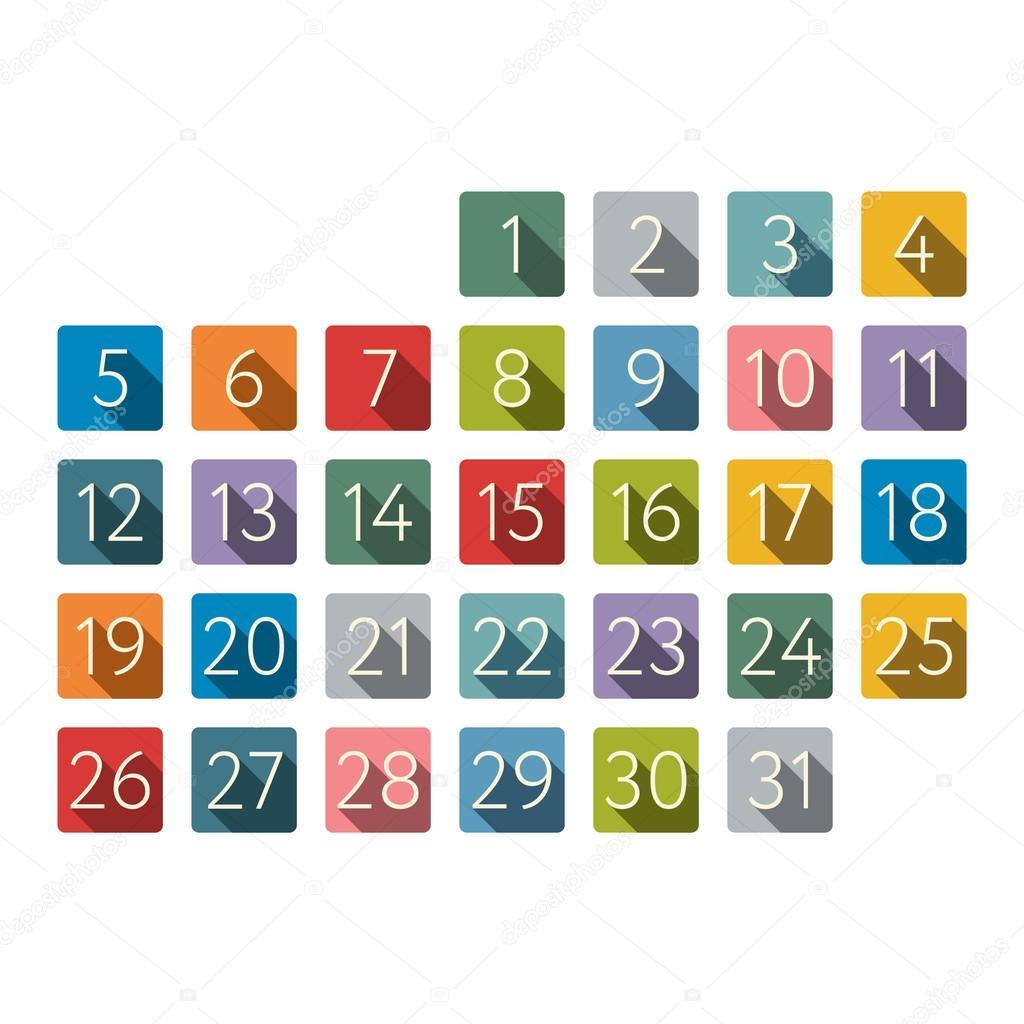 Calendar stock vector