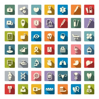 Medical icons set stock vector