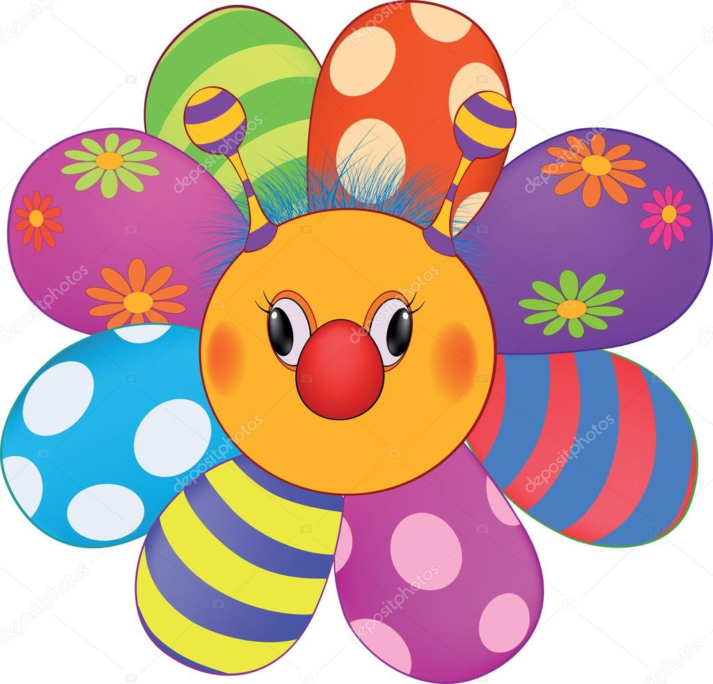 Dibujos Flores Animadas De Colores Dibujos Animados Feliz Flor