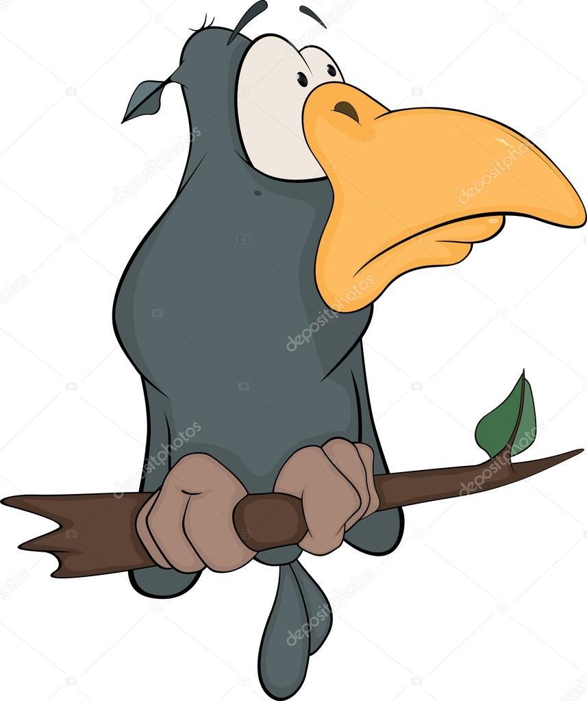 Corbeau d 39 un conte de f es dessin anim image vectorielle liusaart 25070539 - Dessin corbeau facile ...