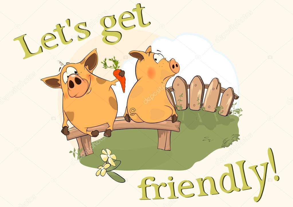 Cartoon pigs.