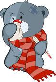 Stuffed toy bear  and illness
