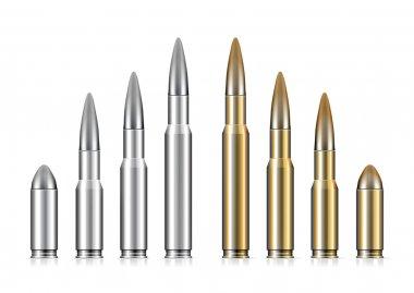 Set of bullets on white background stock vector
