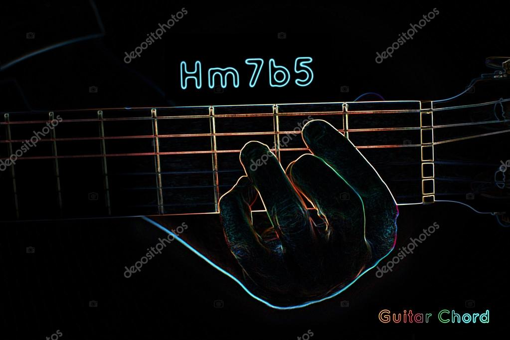 Guitar Chord On A Dark Background Stock Photo Mpavlov 40235563