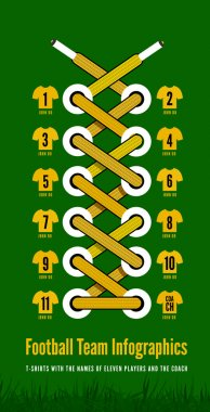 Shoelace as a football or soccer infographic